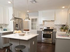 Kitchen, After - A New Home and a Fresh Beginning for a Texas Mom on HGTV