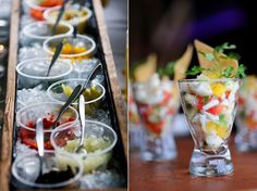 ceviche bar wedding food station