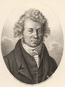 André Marie Ampere: mathematician, chemist, and physicist; generally regarded as one of the main discoverers of electromagnetism. It was Ampere's devotion at daily Mass that inspired a young Frédéric Ozanam to devote himself more earnestly to his Catholic Faith. Ozanam was going through a period of doubt and, while visiting a church in Paris, he saw the great scientist praying fervently before the altar. (Ozanam would later find the St. Vincent de Paul Society at twenty years old.)