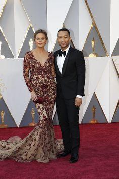 Chrissy Teigen and John Legend #Oscars2016