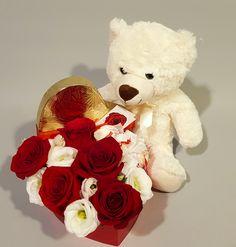Flower Arrangements, Teddy Bear, Toys, Gifts, Raffaello, Activity Toys, Floral Arrangements, Presents, Clearance Toys
