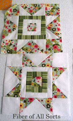star block - reversed /Maybe I'll try this. I'd love to see it in different fabrics