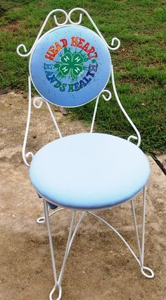 4-H repurposed chair and sweat shirt for 4-H fundraiser - great job!