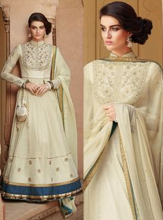 This suit can be customize upto fabric limitation and patch pattern. Slight variation in color is possible. Long Anarkali, Anarkali Suits, Churidar, Salwar Kameez, Eid Collection 2017, Sari, Beige, Inspired, Inspiration