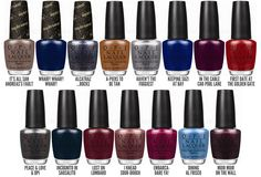 Chalkboard Nails News: OPI San Francisco Collection for Fall/Winter 2013 Get Nails, How To Do Nails, Hair And Nails, Fall Nails, Winter Nails, Opi Nail Polish, Nail Polish Colors, Nail Polishes, Nails News