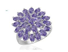 6.1CTW Genuine high finish amethyst in 925 sterling silver  ring Handmade