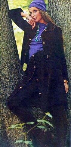 Vogue 1971 Samantha Jones Photo by David Bailey Seventies Fashion, 70s Fashion, Fashion History, Autumn Fashion, Sweet Fashion, Vintage Fashion, Womens Fashion, Samantha Jones, David Bailey