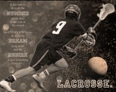 Customized Artwork of Your Athlete. $45.00, via Etsy. MereImageDesign shop #lacrosse #quotes #sports