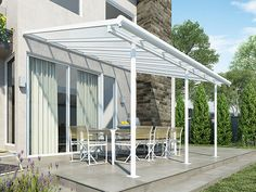 Sierra™ 3×4.25 White Patio Cover - Enhance your outdoor experience year-round with an aesthetic, multi-purpose roofing solution