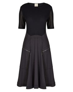 Fit and flare dress - with cute zip pockets. Great for pear shapes.