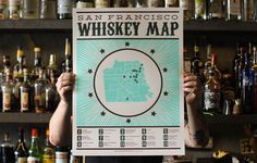 SF whiskey map $30  http://www.thebolditalic.com/shop/collections/sf-themed/products/san-francisco-whiskey-map