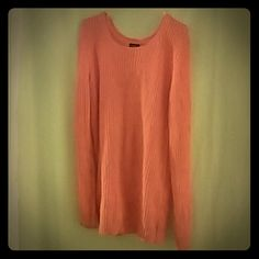 Sweater Beautiful bright orange oversized sweater could be worn with cute skinny jeans and flats or a simple pair of boots. Rue 21 Sweaters Crew & Scoop Necks