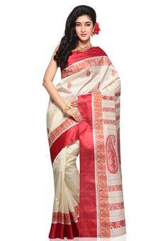 Garad Silk Saree...from Utsav.com. .product of Murshidabad.West Bengal