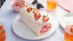 Recipe with video instructions: We've combined a pavlova and a swiss roll to make your ultimate Summer dessert! This Summer fruits meringue roll is a sure crowd pleaser! Ingredients: 75g...