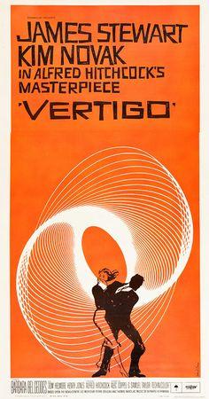 US three-sheet poster for VERTIGO (Alfred Hitchcock, USA, 1958)    Designer: Saul Bass (1920-1996)