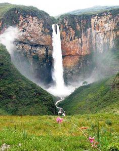 Tabuleiro Waterfall, Serra Geral do Intendente State Park, Tabuleiro, Conceição do Mato Dentro. Minas Gerais (MG), Brasil