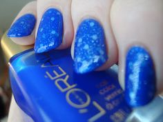 L'Oréal Miss Candy Miss Pixie over OPI Pirouette My Whistle and Sally Hansen Blue My Mind *click for more*