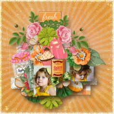 """Cookine"" de ReginaFalango https://www.myscrapartdigital.com/shop/reginafalango-m-50.html Template Eudora Design et photo Laura Bednar Deacetis"