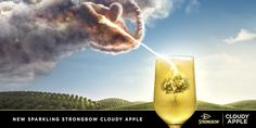 The cider revolution shows no sign of abating, and the success of Strongbow Dark Fruit and Citrus Edge have led the way in recent years. Tv Adverts, The Great Escape, Creative Portfolio, Apple Cider, Wine Glass, Alcohol, Fruit, Advertising Design