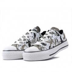 Converse Shoes Camo Gray Chuck Taylor All Star Gorillaz Classic Low Cheap Converse Shoes, Grey Converse, Converse Sneakers, Converse All Star, Vans Shoes, Cute Shoes, Me Too Shoes, Gray Toms, Swag Style