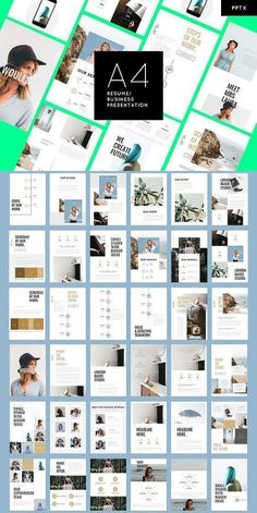 WOULES - A4 Printable - PowerPoint. Presentation Templates