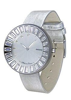 Moog Paris-Sunshine Damen-Armbanduhr Zifferblatt silber Armband silber Leder Rindleder, hergestellt in Frankreich-m45432-003 - http://uhr.haus/moog-paris/moog-paris-sunshine-damen-armbanduhr-silber-in-4
