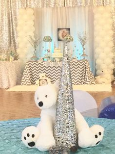 polar bears baby shower party ideas winter party ideas. Black Bedroom Furniture Sets. Home Design Ideas