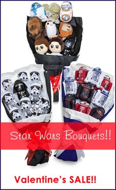 On Our Site - Sale on Star Wars Plush Bouquets! Valentine's Day is coming up soon. Flowers die, chocolates melt so give these Plush Bouquets as a gift of love