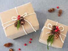 DIY Gift Wrap With Natural Elements >> http://www.diynetwork.com/decorating/how-to-wrap-gifts-with-natural-items/pictures/index.html?soc=hpp