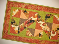 Autumn Table Runner Pieced and Quilted by PicketFenceFabric, $46.00