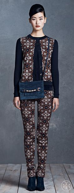I know we shouldn't be thinking about fall yet, but the pattern on this outfit is amazing! We just love Tory Burch!