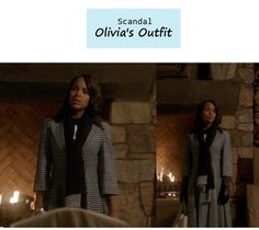 """Our very own Modern Gladiator Kerry Washington as Olivia Pope in Scandal - """"Vermont is for Lovers Too""""    Olivia's Outfit: 1. Dior Houndstooth Print Coat.                             2. Gaspar Gloves by Dorothy Gaspar."""