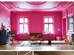 Hot Pink Walls Ceiling Yes Please Magenta Color