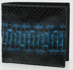Paul Smith Blue Snakeskin Billfold Wallet RRP £200