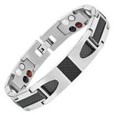 Carbon fiber bracelets make for a great accessory to any wardrobe. Mens Magnetic Bracelets, Bracelets For Men, 4 Element, Bracelet Making, Carbon Fiber, Silver Color, Bangles, Chain, Accessories