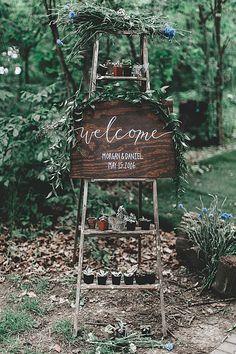 Como decorar tu boda con escaleras de madera