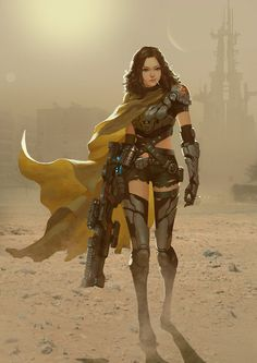 fantasy and science fiction Female Character Design, Character Concept, Character Art, Concept Art, Character Portraits, Fantasy Anime, Sci Fi Fantasy, Wallpaper Science, Science Fiction