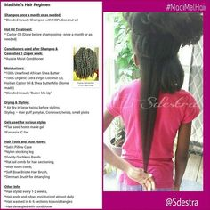 """*NATURAL HAIR REGIMEN Tons have asked about my daughter's #HairRegimen lately. I will use the same hashtag she has for ALL her hair photos so it is easily accessible. Keep in mind it is subjected to change. Also do what works for you, no product is """"one size fits all"""". Some products can be purchased at a beauty supply store or online. For her natural hair photos, click this hashtag #MadiMelHair. #sdestra #NaturalHairKids #NaturalHairChildren #KidsHairCare #childrensnaturalhair #girlsna..."""