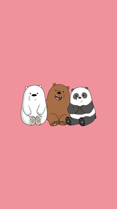 Cute Panda Wallpaper, Bear Wallpaper, Kawaii Wallpaper, Cute Wallpaper Backgrounds, We Bare Bears Wallpapers, Panda Wallpapers, Cute Cartoon Wallpapers, Ice Bear We Bare Bears, We Bear