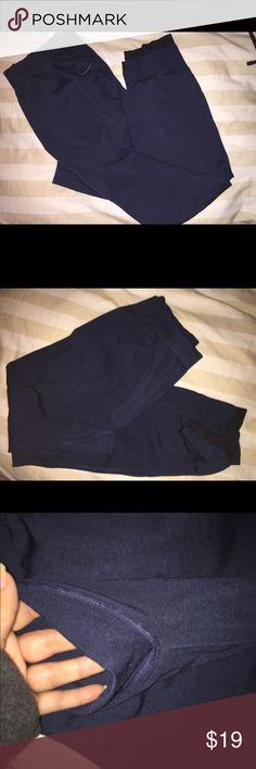 Nike Pro leggings women's US XL Nike Pro leggings  Size US XL  Navy Blue  Has minor fuzzies (see pics)  Worn but in good condition Nike Pants Leggings