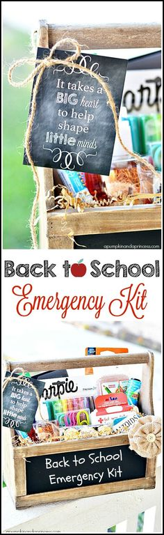 Back to School Emergency Kit {Printable Tags} - A Pumpkin And A Princess