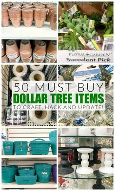 The ultimate list of the 50 best Dollar Tree items to hack transform and makeover! The post The ultimate list of the 50 best Dollar Tree items to hack transform and makeov appeared first on Diy. Astuces Dollar Store, Dollar Store Hacks, Dollar Stores, Dollar Items, Dollar Store Decorating, Thrift Store Crafts, Thrift Store Finds, Thrift Stores, Dollar Tree Finds