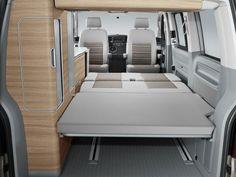 """Bett - Bed Schlaf-Sitz-Rückbank VW T5 """"Hotel""""California Comfortline Camper Bus  Campervan  Schlafen im VW-Bus"""