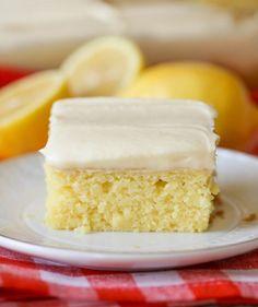 Zitronen-Blechkuchen