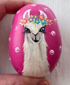 May the llama of happiness forever spit in your direction . Autumn Painting, Pebble Painting, Dot Painting, Pebble Art, Stone Painting, Painted Rock Animals, Painted Rocks Craft, Hand Painted Rocks, Painted Stones