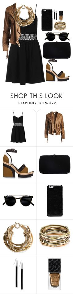 """""""Untitled 7.4"""" by goodvibes00 on Polyvore featuring Topshop, Sans Souci, Pierre Hardy, Sergio Rossi, Maison Margiela, Rosantica, Kendra Scott, GUESS and Gucci"""