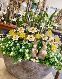 Online Vásárlás, Flower Basket, Shabby Chic, Easter Decor, Garlands, Spring, Flowers, Baskets, Plants