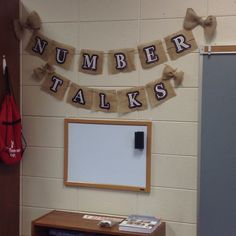 Burlap banner in the...
