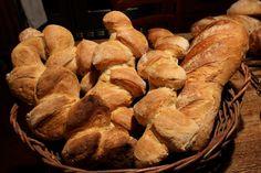 Basket of bread baked in the Fontana Forni Oven. www.fontanaforniusa.com