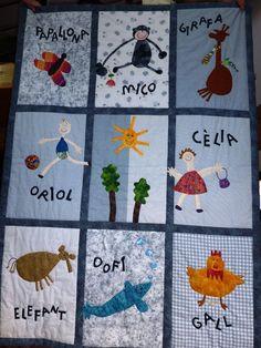 Manta per l'Oriol amb dibuixos de la Cèlia 2009